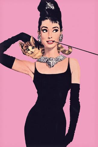 Audrey Hepburn – Pink Art Print
