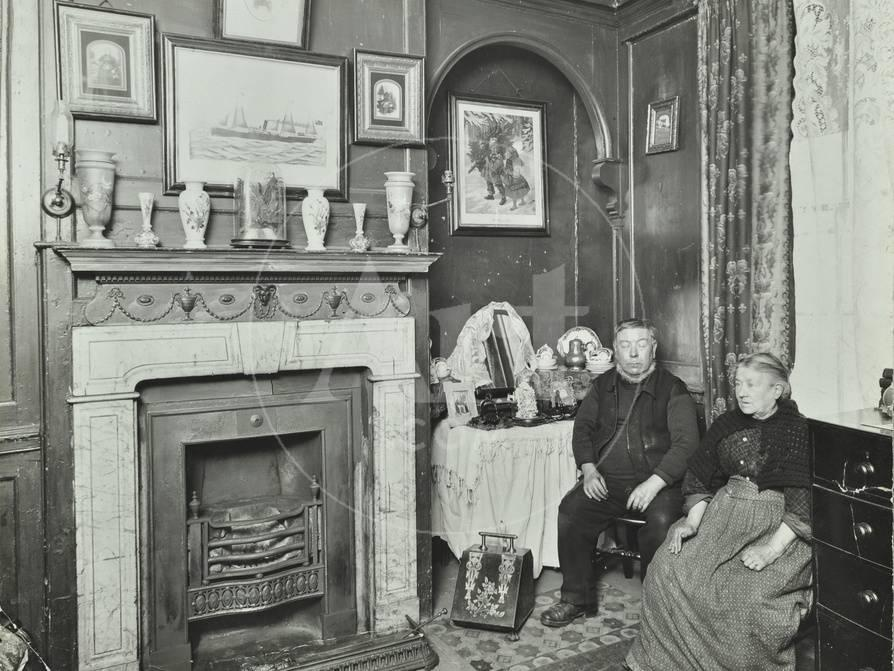 victorian interior decorating.htm elderly couple in victorian interior  albury street  deptford  elderly couple in victorian interior
