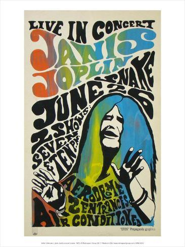 Janis Joplin Concert Poster 1970 Print By Unknown At
