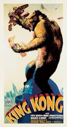 King Kong – Profile Art Print