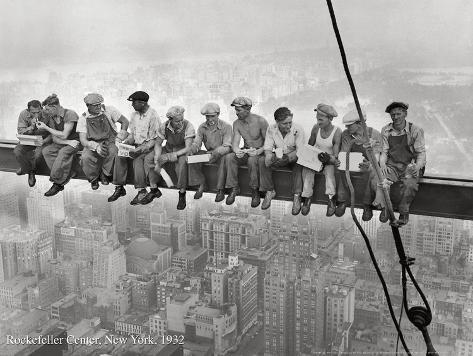 Rockefeller Center, 1932 Kunstdruk