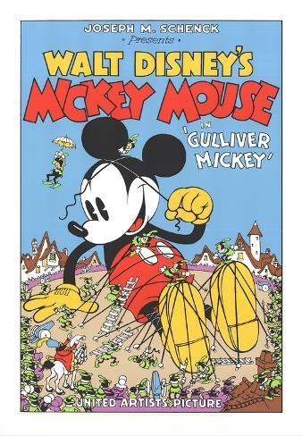 Walt Disney's Mickey Mouse-Gulliver Mickey Serigraph