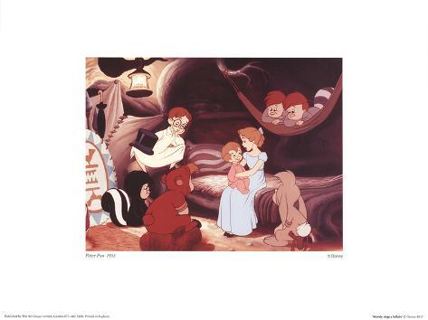 Walt Disney's Peter Pan: Wendy Sings a Lullaby Stampa artistica