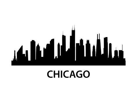 Skyline Chicago Lámina giclée prémium por unkreatives en AllPosters.es