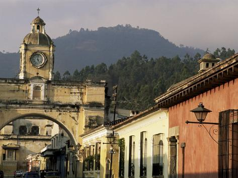 Arch of Santa Catalina, Dating from 1609, Antigua, Unesco World Heritage Site, Guatemala Photographic Print