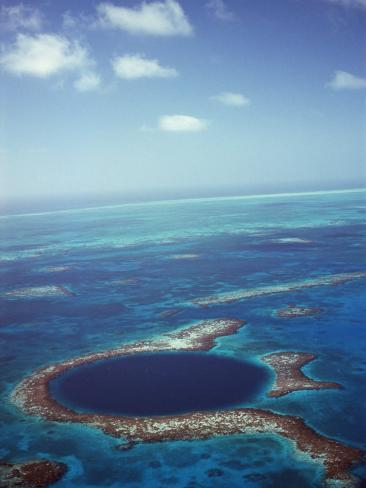 Blue Hole, Lighthouse Reef, Belize, Central America Photographic Print