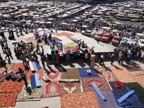 Carpet Area, Main Market, Tashkent, Uzbekistan, Central Asia Photographic Print