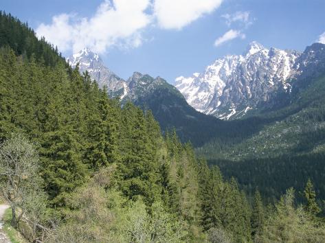 Hiker at Lomnicky Stit, High Tatra Mountains, Slovakia Photographic Print