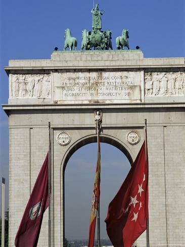 Triumphal Arch, Moncloa, Madrid, Spain Photographic Print