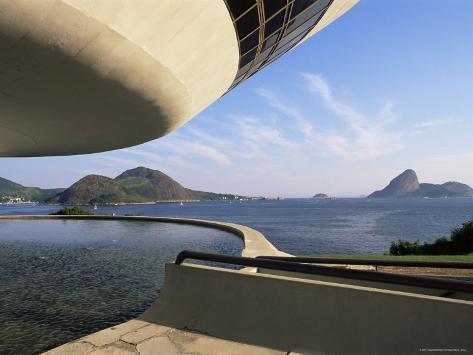View Across Bay to Rio from Museo De Arte Contemporanea, by Oscar Niemeyer, Rio De Janeiro, Brazil Photographic Print