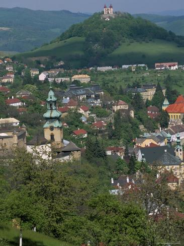 View Over the Town, Banska Stiavnica, Unesco World Heritage Site, Slovakia Photographic Print