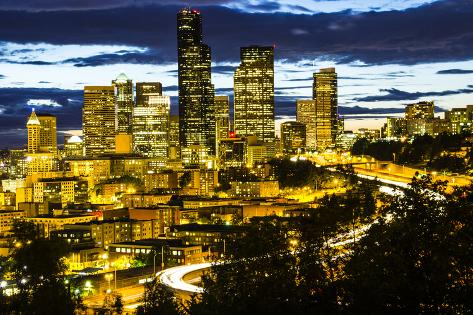 Seattle Skyline Photographic Print