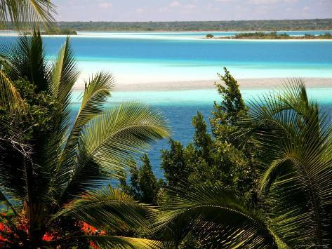 Turquoise Color of Lake Bacalar Photographic Print