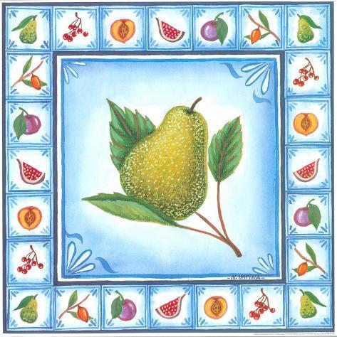 Blue Fruits I Art Print