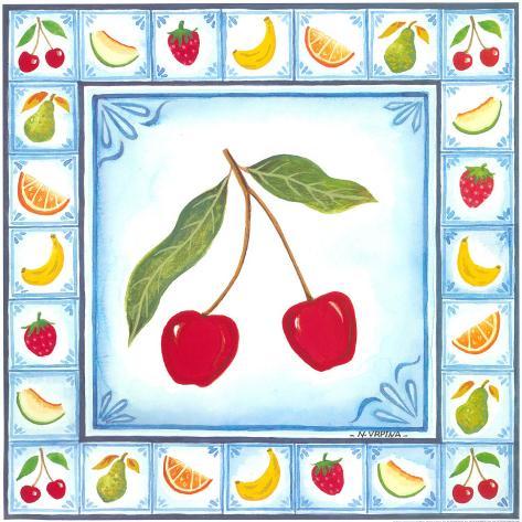 Blue Fruits IV Art Print