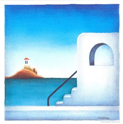 Mediterranean Coast II Art Print