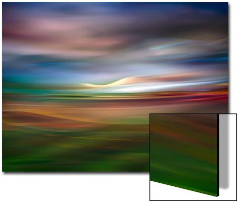 Palouse Evening Abstract Art on Acrylic