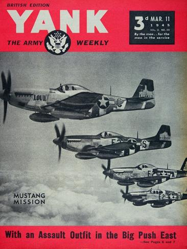 Us Army Yank Magazine British Edition, 11th March 1945 Stampa giclée