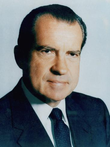 US President Richard Nixon, Early 1970s Photo