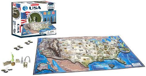 USA 4D Puzzle Quebra-cabeça