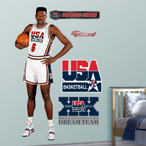 Usa basketball patrick ewing 1992 dream team wall decal sticker