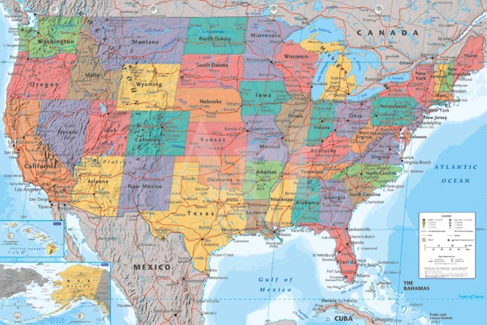 USA Map Photo at AllPosters.com