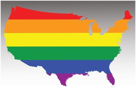 Usa rainbow flag poster at allposters usa rainbow flag gumiabroncs Gallery