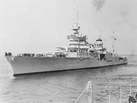 USS Indianapolis at Sea Photographic Print