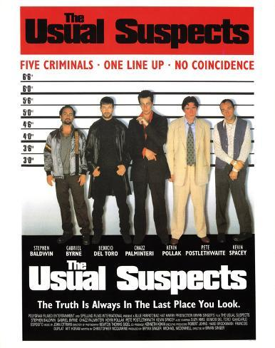 Usual Suspects Line Up Movie Poster Print Masterprint