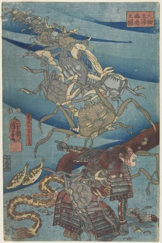 Battle at the Bottom of the Sea Off Daimotsu Beach, 1847-1852 Giclee Print