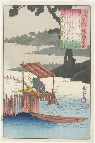 Illustration of the Fujiwara Sadayori's Poem, C. 1840-1842 Giclee Print