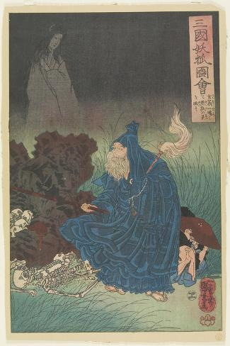 Old Man Gen Exorcise the Bad Spirit of a Haunting Fox, C. 1850 Giclee Print
