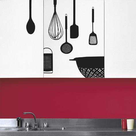 Utensili da cucina (sticker murale impermeabile) Decalcomania da ...