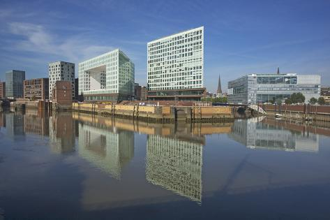 Germany, Hamburg, on the Right the Deichtorcenter with the Zdf Centre Photographic Print