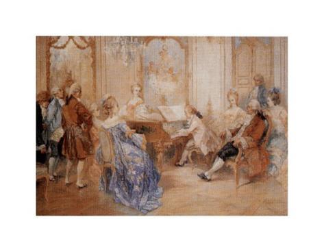 Recital a la Cour Art Print
