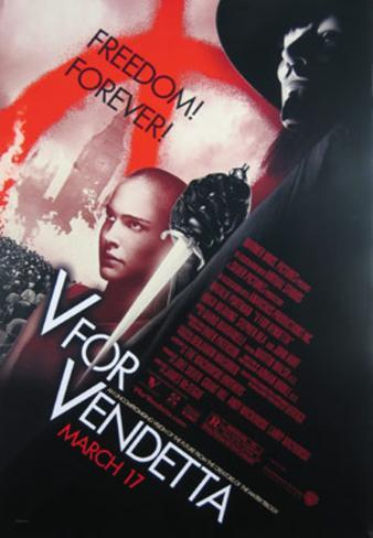 V For Vendetta Movie Poster Poster double face