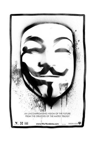 V per Vendetta Stampa su tela