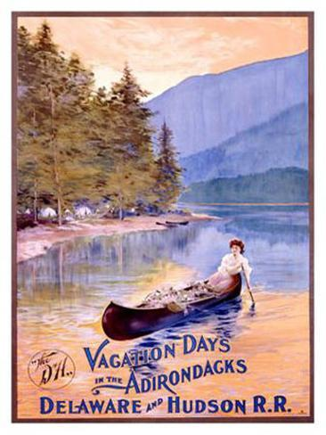 Vacation Days in the Adirondacks Giclee Print