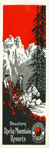 Vacation Spots in the Rockies Brochure, 1928 Giclee Print