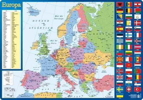 Vade Escolar Portugal  Mapa De Europa Novelty  AllPosterscouk