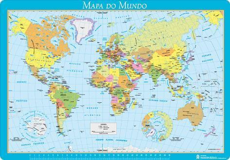 mapa mundo escolar Vade Escolar Portugal   Mapa Del Mundo Novelty   AllPosters.co.uk mapa mundo escolar