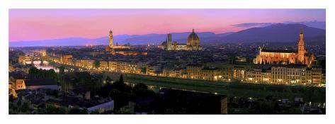 Florence at night Art Print