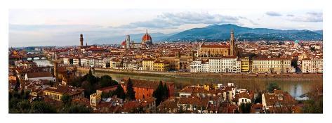 Panoramic view of Florence Art Print