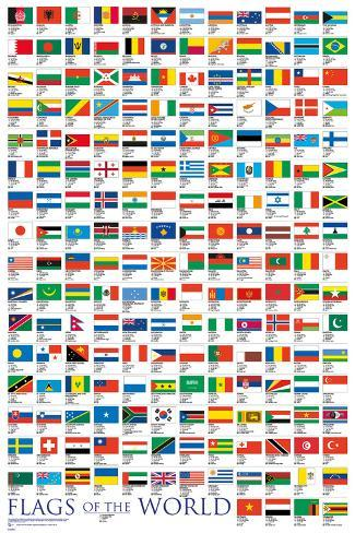 Världens flaggor Poster