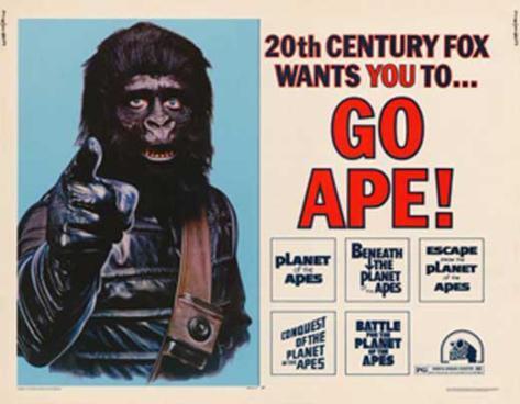 Vai scimmia (Il pianeta delle scimmie), in inglese Stampa master