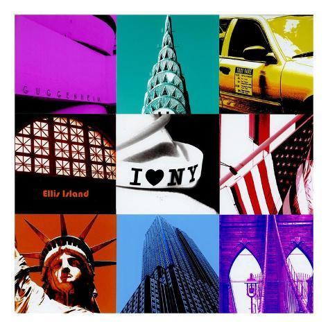 New York Nine Patch Art Print