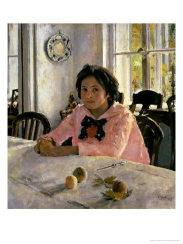Girl with Peaches, 1887 Giclee Print