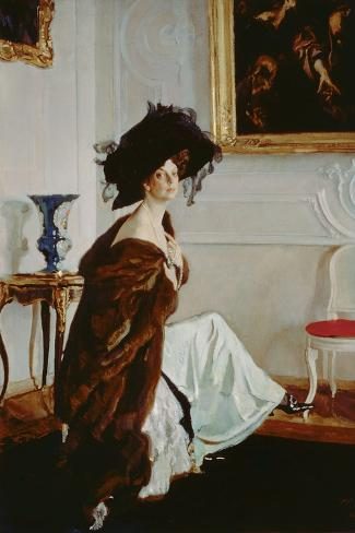Portrait of Princess Olga Konstantinovna Orlova (1872-1923) 1911 Lámina giclée