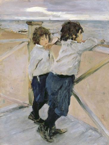 Two Boys, 1899 Lámina giclée