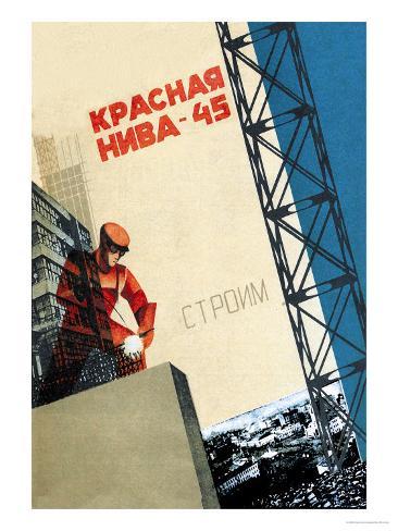 Red Field Art Print